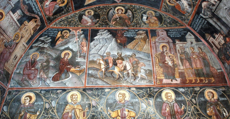 Frescă - Sfânta Mănăstire Ostrov